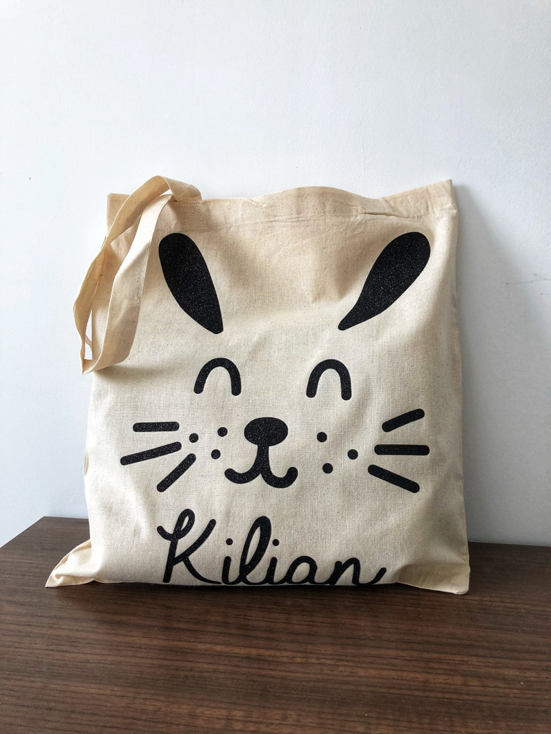 Tote bag rabbit first child image 0