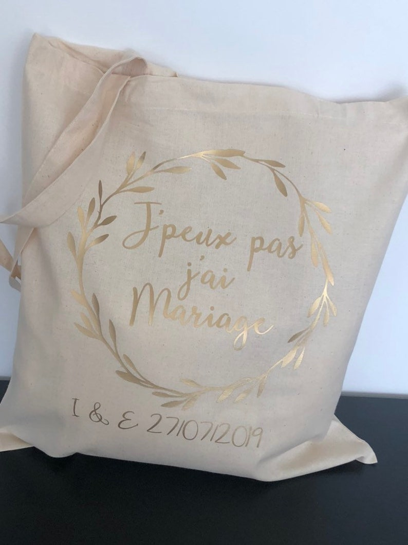 Tote bag I can't I have wedding image 0
