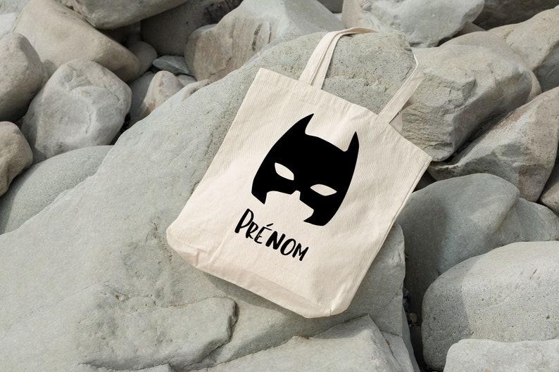 Tote bag mask super hero Black