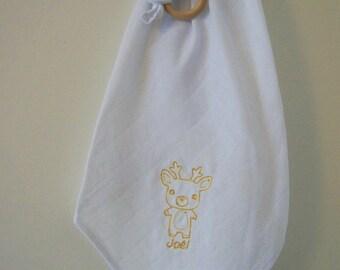 Lange personalizada bordada bebé Reno - ciervo - Navidad
