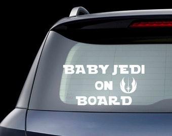 Bebé a bordo de signo Darth Vader Star Wars VINILO COCHE DECAL STICKER ventana camión