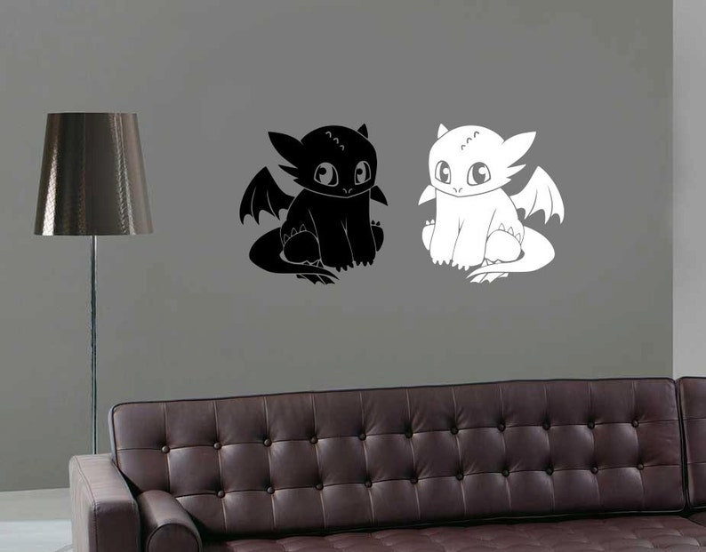 how to train your dragon wall decal toothless wall sticker | etsy