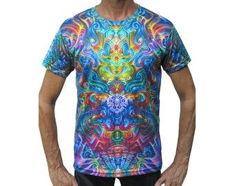 61939a6052b Psychedelic T shirt  Holographic Altar . Trippy T shirt