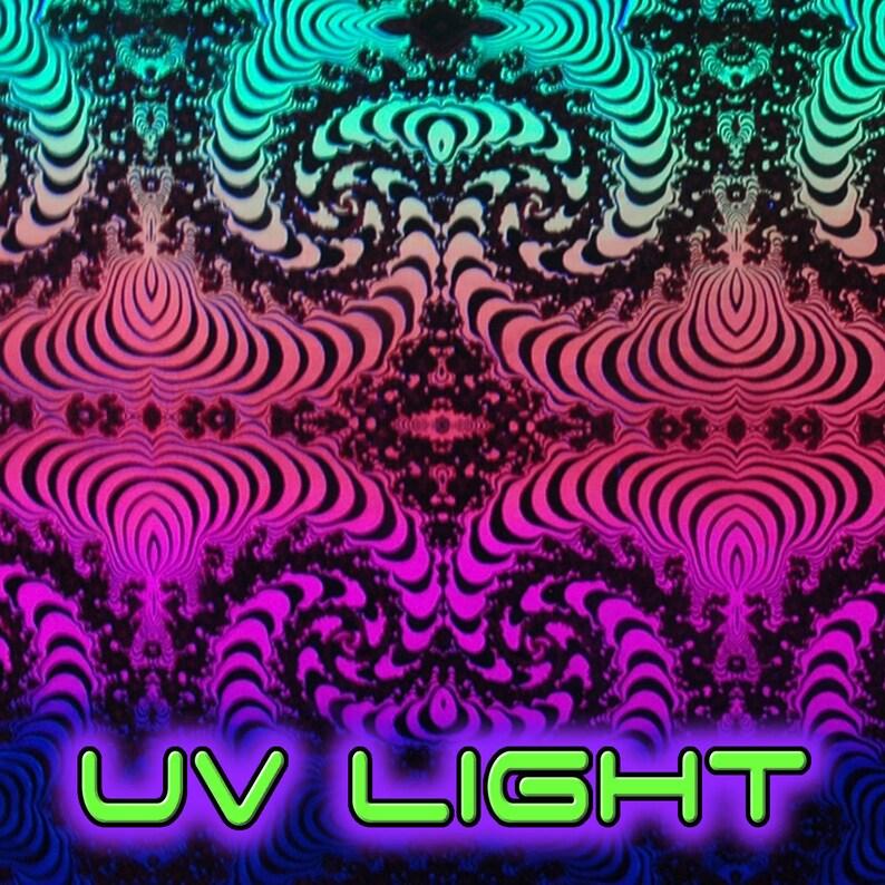 Trippy tights Psychedelic Flares : Rainbow Fractal yoga pants printed rave leggings yoga boho leggings Cotton lycra UV active Bootcut