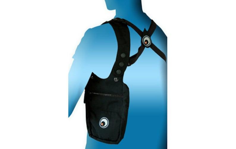 Multi-pocket festival bag Shoulder Holster money belt Black pocket holster bag document holster. Underarm passport pouch shoulder bag