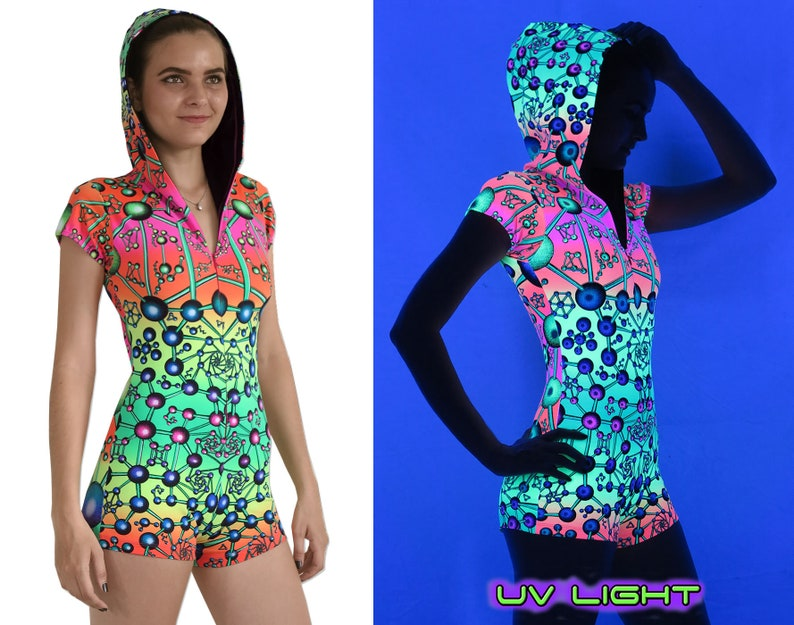 ef0d4fa4fd Psychedelic bodysuit  Atomic Rainbow  Psy clothing