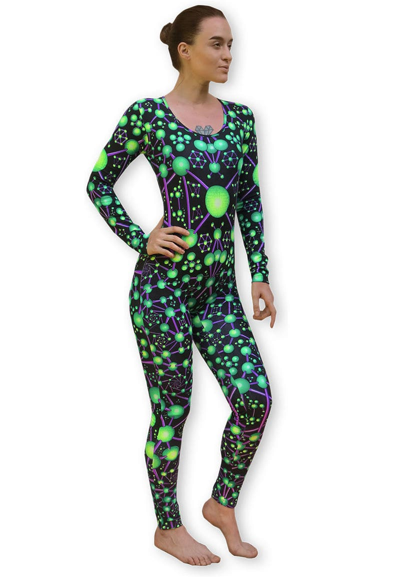 510a36a143 Printed catsuit  Atomic Alien . Psychedelic Long