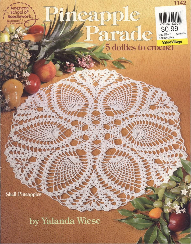 Pineapple Parade Crochet Doily Pattern Crochet Lace Pattern Etsy