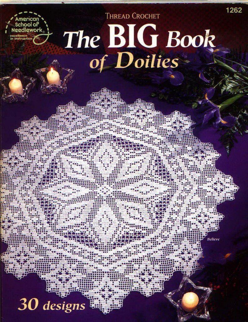 Crochet Lace Pattern Crochet Tablecloth Crochet Doily Patterns Etsy