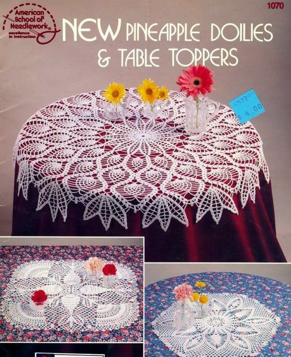 New Pineapple Doilies Table Toppers Crochet Lace Crochet Etsy