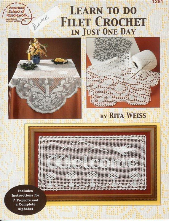 Filet Crochet Crochet Doily Patterns Crochet Filet Crochet Etsy