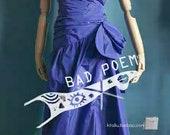 mugler black blue dress M