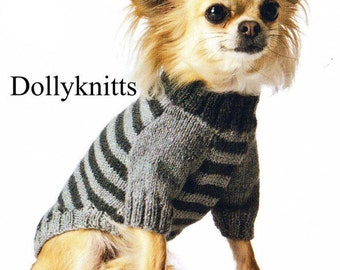 Chihuahua dog coat KNITTING PATTERN