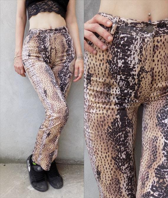 90's Animal Print High Waist Pants
