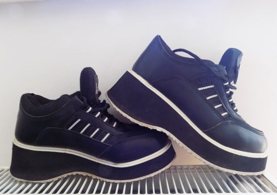 Vintage Platform Platform 90's Platform Sneakers Grunge 90's Lee Sneakers Retro Sneakers Sneakers Cooper Chunky 90's Rave Platform Vintage wqzaAEn