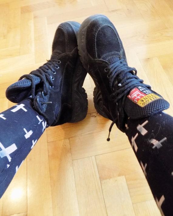 Platform Beautiful Boots Stone Vintage Yellow Vintage Yellow 90's Platforms Platform Vintage Stone Grunge Platform Sneakers Sneakers XwZ0nq