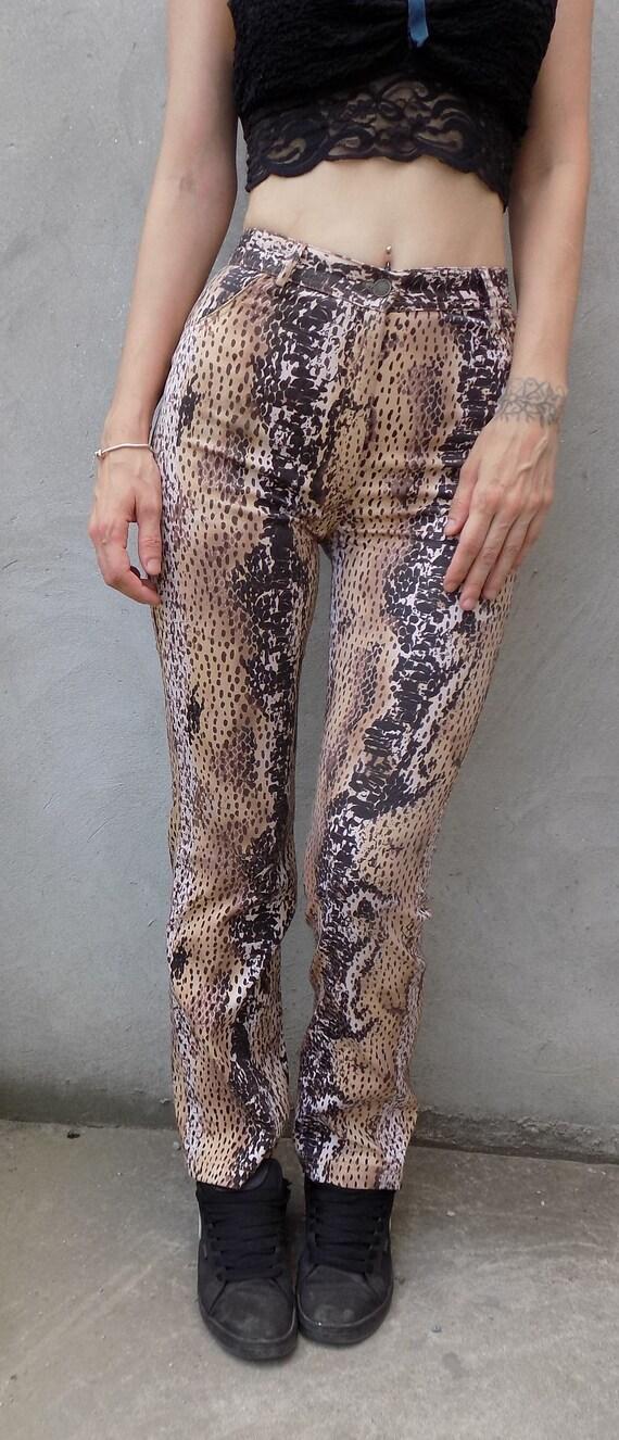 90's Animal Print High Waist Pants - image 6