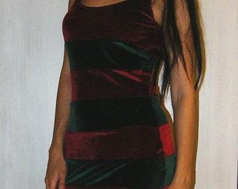 Freddy Krueger Dress, Velvet Dress, A Nightmare On Elm Street, Horror Freddy Krueger Dress