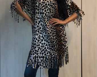15da3c025dad Vintage Leopard Print Dress