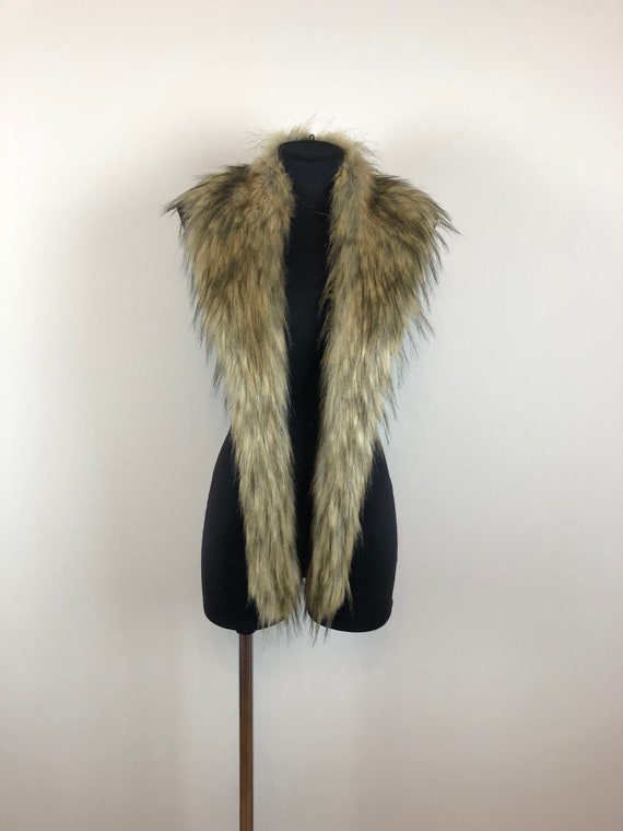Ginger Fake Fur Collar, Faux Fur Collar Long Hair,