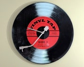 Vinyl Like Record 78 RPM Retro Glass Wall Clock RCA Victor Music Room, Man Cave, Radio Decor, Home Theater Studio Music Room, Recording Star