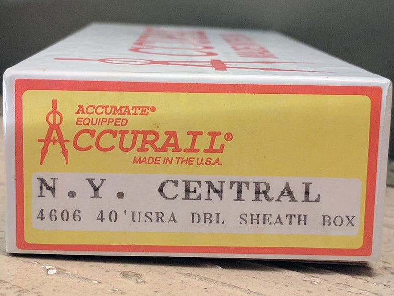 Central Original Double Sheath Box New Old Stock Lionel MTH K-Line Made in U.S.A. Accurail HO Model Railroad RXR Rail Road Box Car N.Y