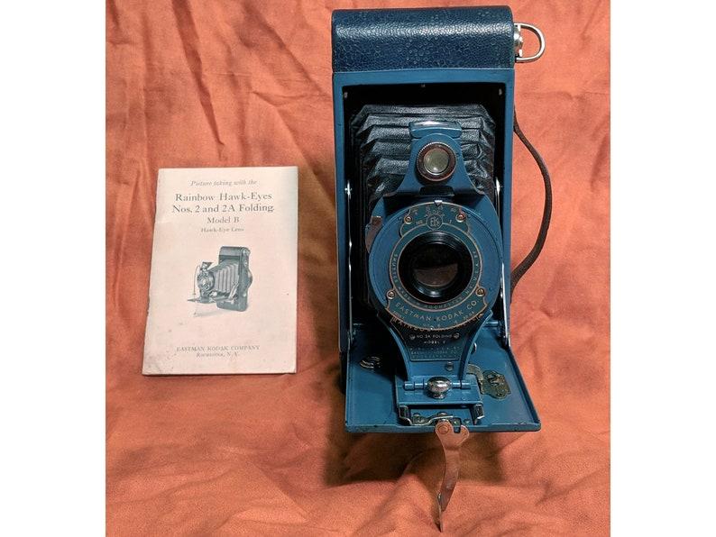 VERY RARE Antique 1920 Kodak Model No 2A Blue Variant Leather ...