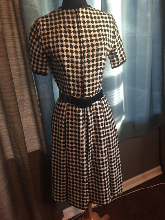 1960's Vintage Houndstooth Dress