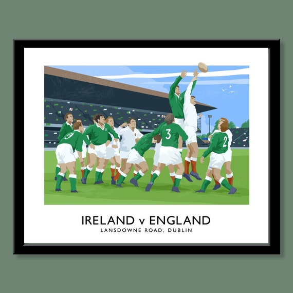 Picture Poster 6 Nations England New Zealand All Blacks Framed Print Rugby