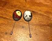 hat pins, lapel pins, gothic costume accessories