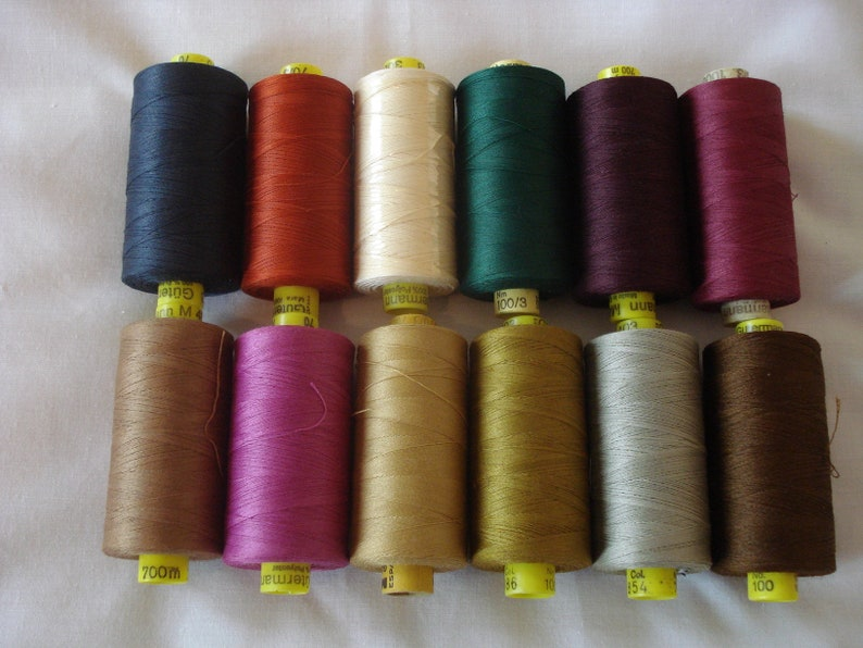 12 Sewing Threads