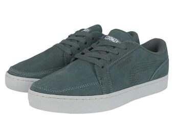CORMAX® JERT grey/grey sneaker slip ons suede skate unisex handmade