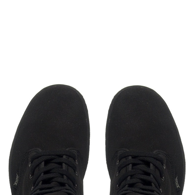 ADIX® 1510 stivali nero vegano nubuck pelle 8 occhielli lXTPTGXL