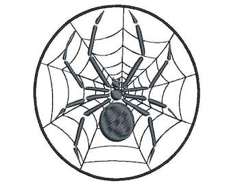 SPIDER - machine embroidery design - Instant Download