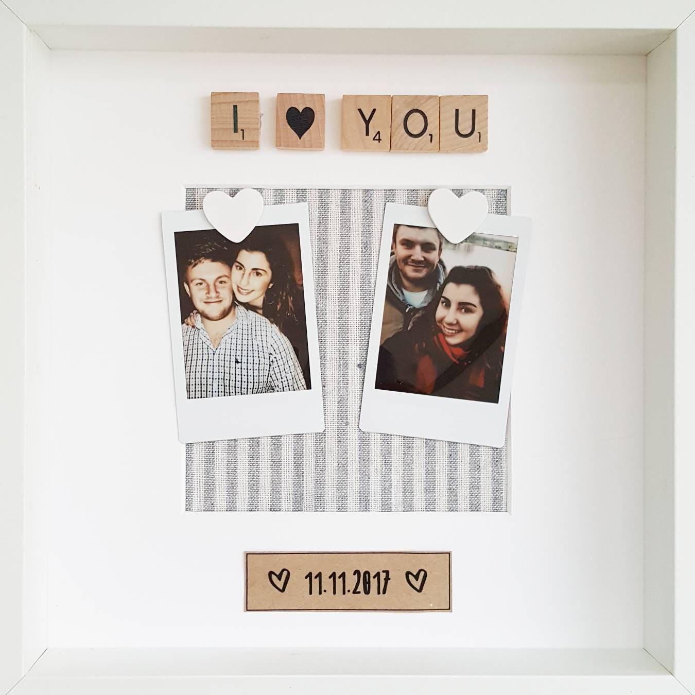 Couples Gift/ Anniversary Gift/ Engagement Frame/ Anniversary Frame ...