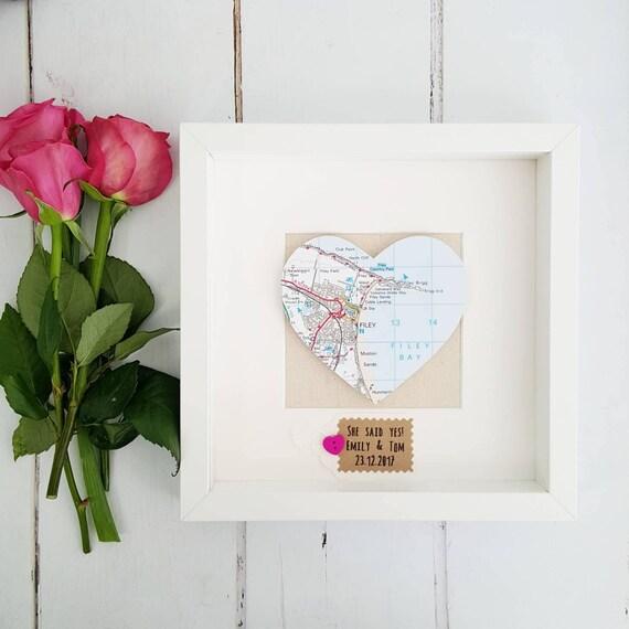 Herz Karte Rahmen Engagement Rahmen Rahmen Hochzeitsgeschenke Etsy
