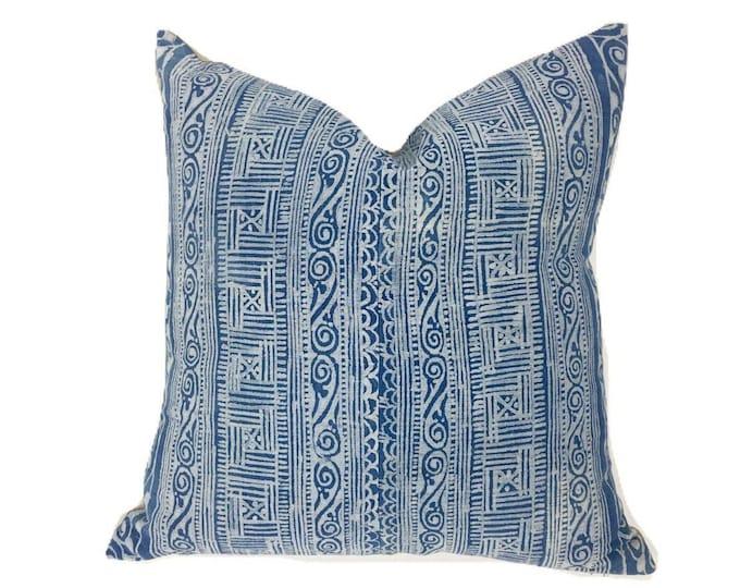 Hemp Pillow Cover, Vintage Textile Pillow Cover, Boho style, Coastal Style