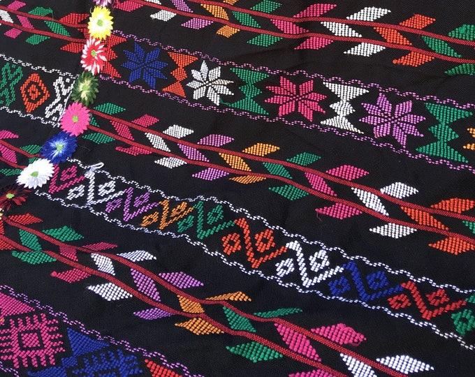 Guatemalan Textile, Vintage fabric, Guatemalan Fabric, Boho Fabric, Guatemalan Corte