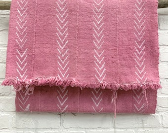Mud Cloth, Mudcloth throw, Pink mud cloth, African mudcloth fabric, boho fabric, Morrissey Fabric
