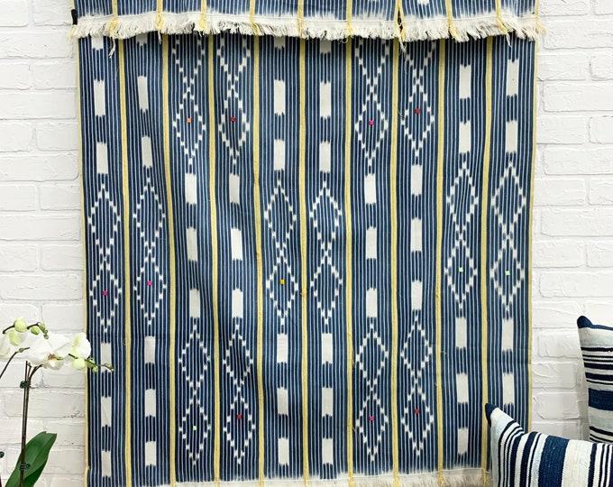 Mud Cloth, Vintage Baule Cloth from the Ivory Coast of Africa, mud cloth, vintage indigo fabric