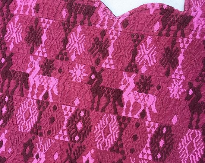 Boho Poncho, Guatemalan Huipil, Bohemian Top, Guatemalan Fabric