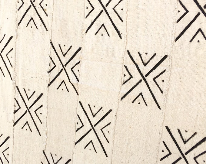 Mud Cloth fabric, Black and White Tribal print, Authentic African mud cloth, Morrissey Fabric