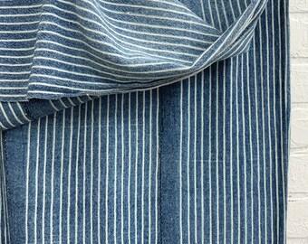 Mud Cloth Striped Indigo, vintage throw, African fabric, Vintage mudcloth, Morrissey Fabric