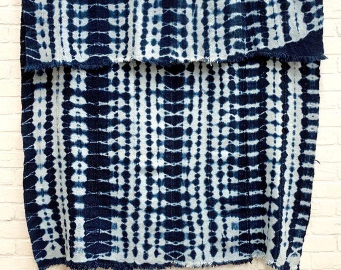 Mud cloth indigo, Vintage Fabric, mudcloth throw, Indigo mud cloth, Bohemian throw