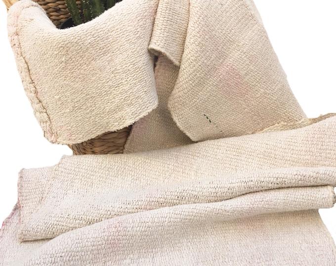 Boho Runner, Turkish Vintage Kilim Rug, laundered hemp rug, Boho rug