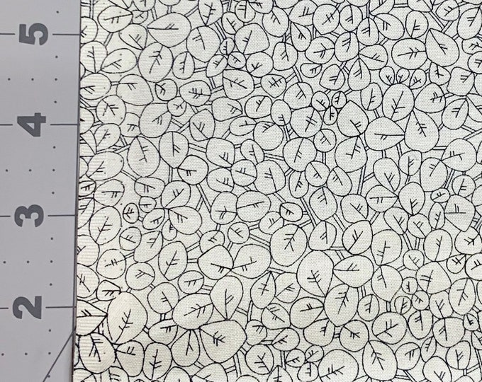 Face mask cotton fabric, Robert Kaufman fabric, Quilt Fabric, mini leaf print