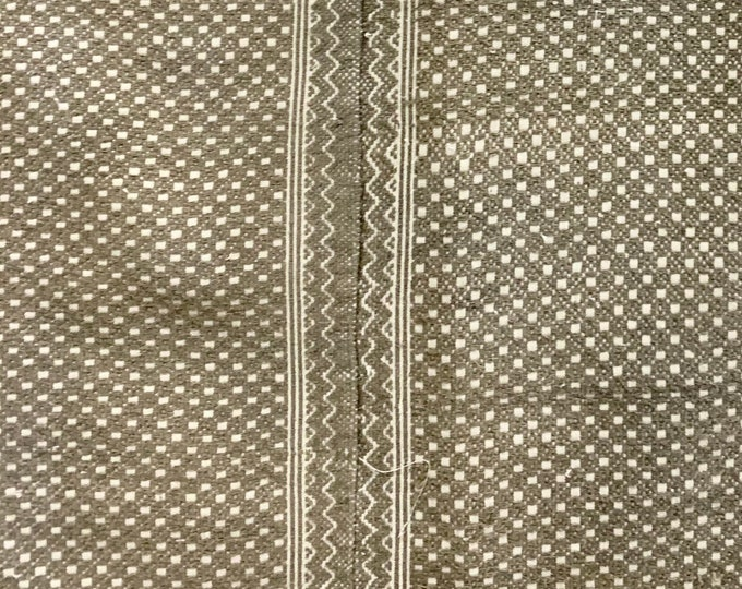 Chinese Wedding Quilt Textile, Neutral color Hill Tribe Textile, Cushion cover fabric, Vintage Hemp, Morrissey Fabric