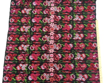 Guatemalan vintage Fabric, Embroidered Corte Cloth, Hand embroidery randa, Morrissey Fabric