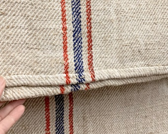 Grain Sack, Vintage Grain sack, Grainsack Fabric, Linen and Hemp Fabric, Patriotic Grainsack