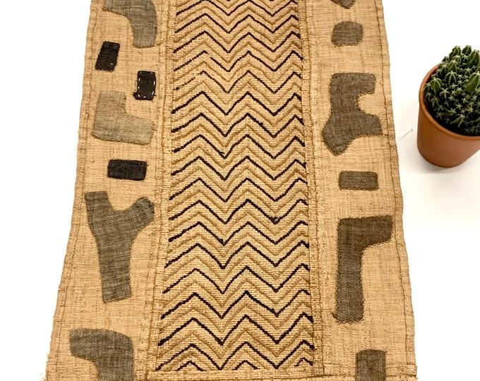 Kuba Cloth, Vintage Textile, Hand made, African Wall Art, Kuba 2A